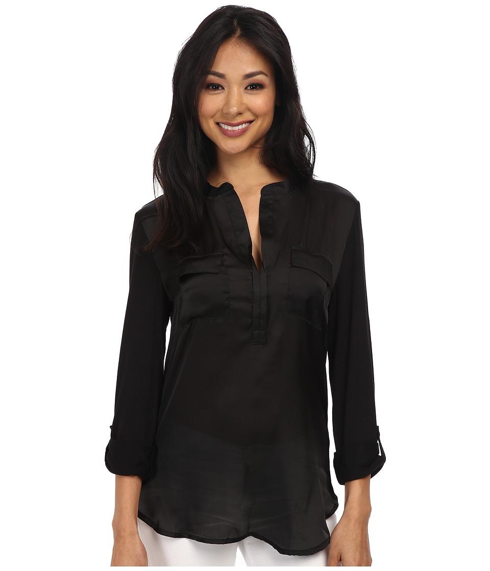 Dylan by True Grit - Roll Sleeve (Black) Women's Clothing