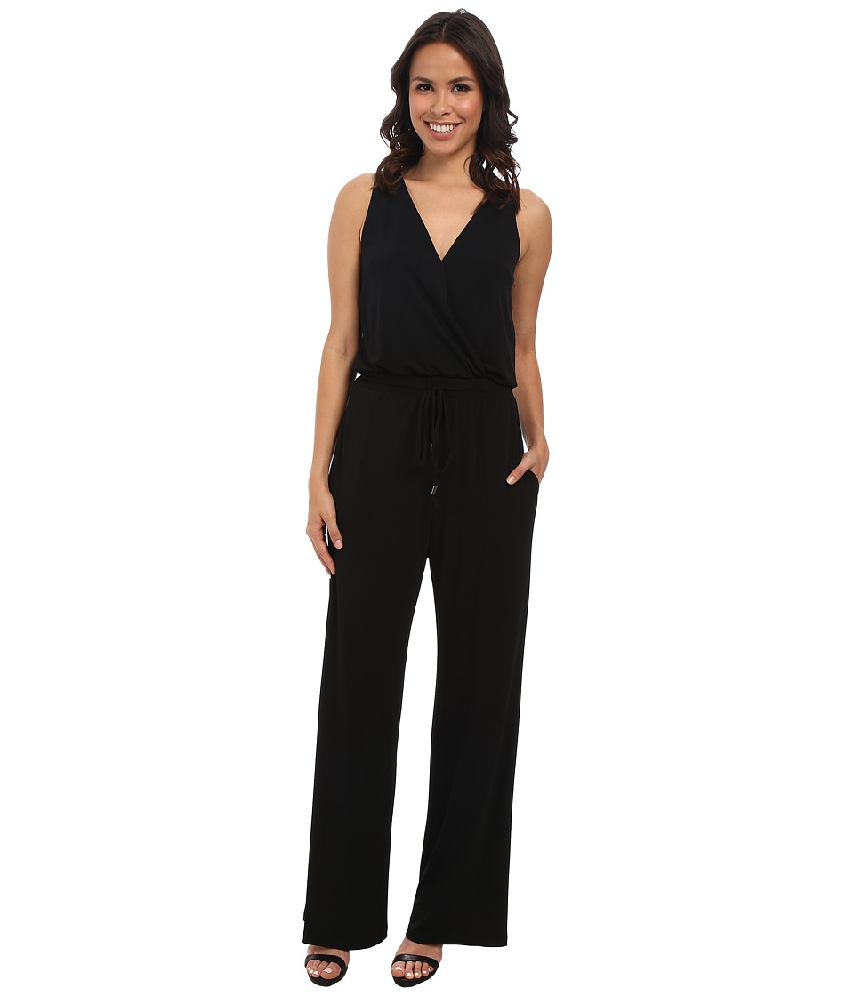 Vince Camuto - Jumpsuit with Mesh Detail At Back (Black) Women's Jumpsuit & Rompers One Piece