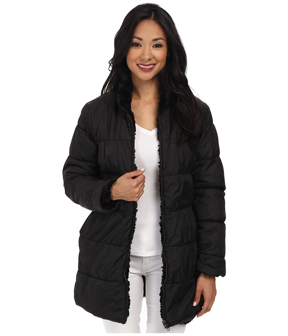 Dylan by True Grit - Silky Fur Puffer Coat (Black) Women