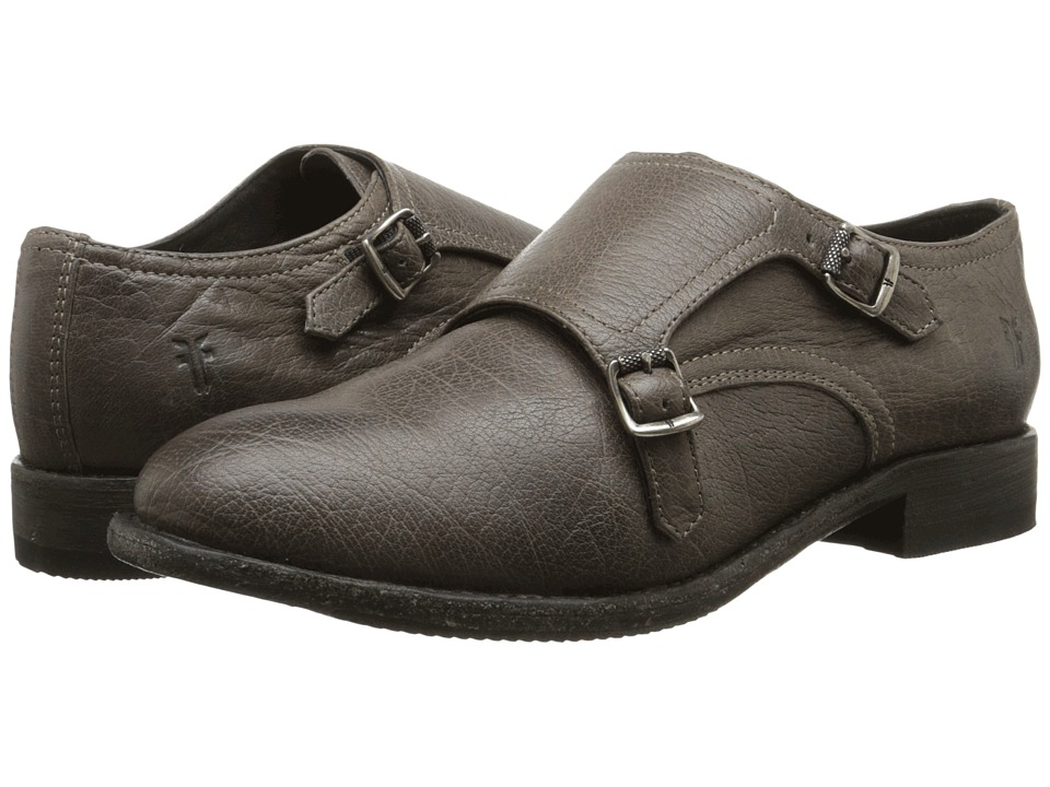 Frye - Ethan Double Monk (Charcoal Buffalo Leather) Women