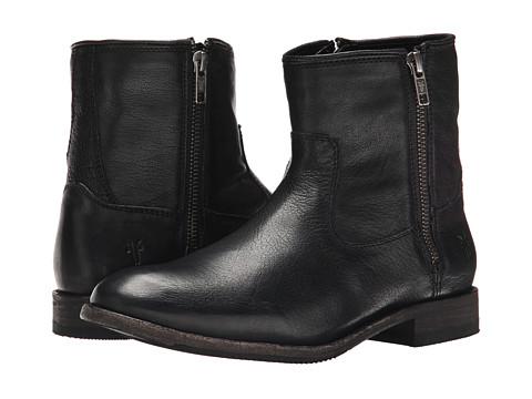 Frye - Ethan Double Zip (Black Buffalo Leather) Women