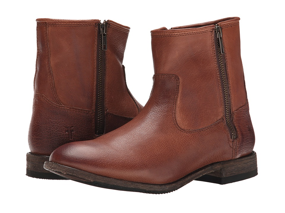 Frye Ethan Double Zip (Whiskey Buffalo Leather) Women
