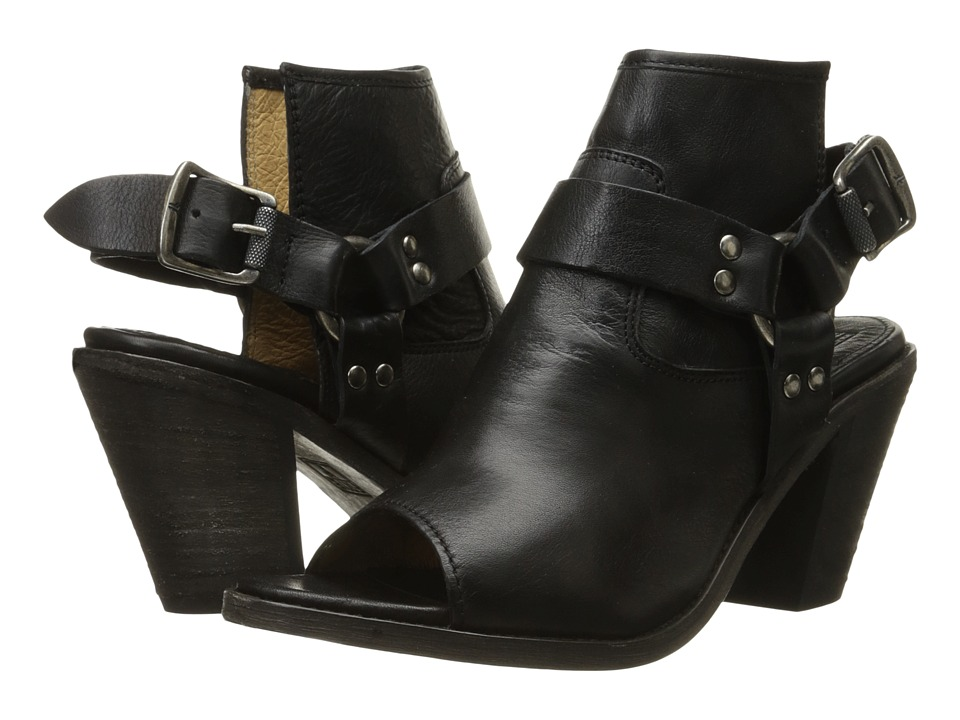 Frye - Izzy Harness Sling (Black Soft Vintage Leather) Women's Sling Back Shoes