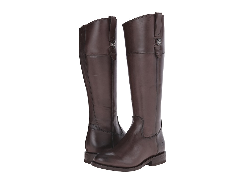 Frye - Jayden Button Tall (Dark Grey Smooth Vintage Leather) Cowboy Boots