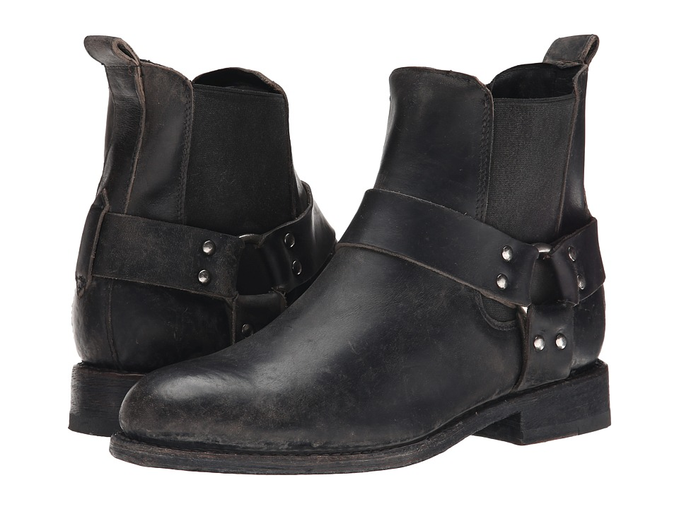 Frye - Jayden Harness Chelsea (Black Smooth Stonewash) Cowboy Boots