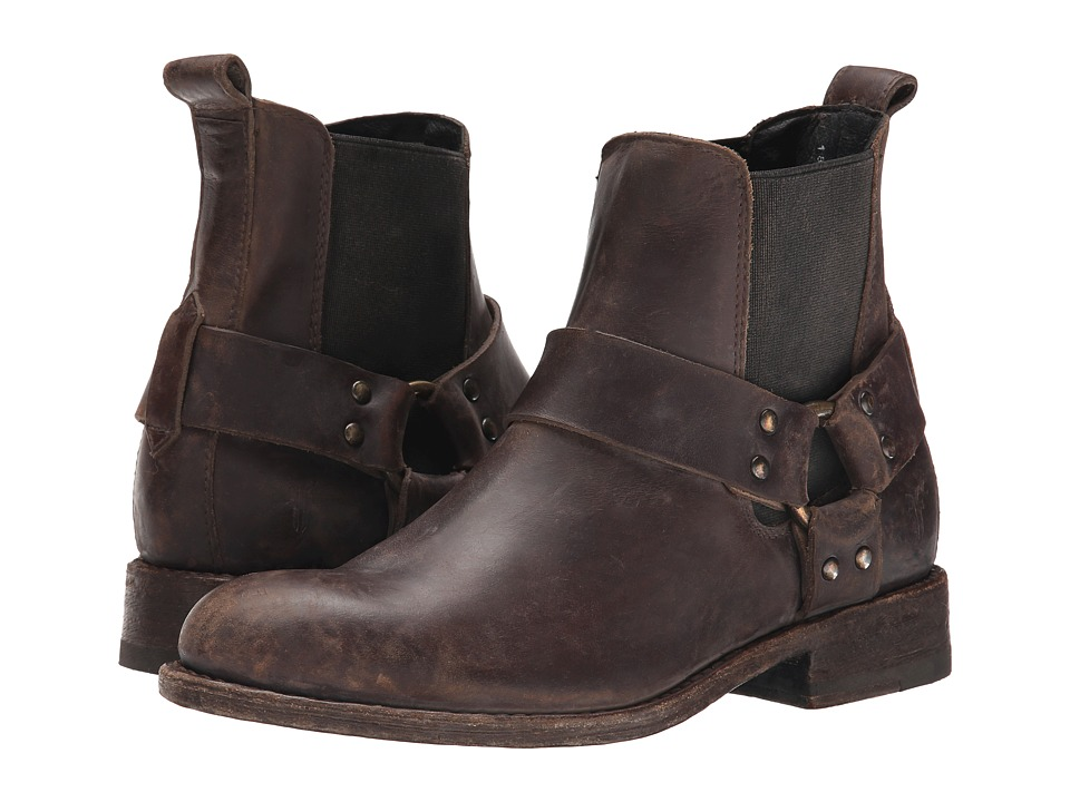 Frye - Jayden Harness Chelsea (Espresso Smooth Stonewash) Cowboy Boots