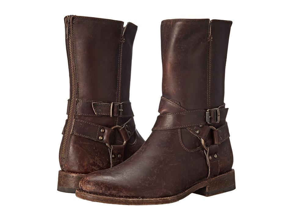 Frye Jayden Harness Zip (Espresso Smooth Stonewash) Cowboy Boots