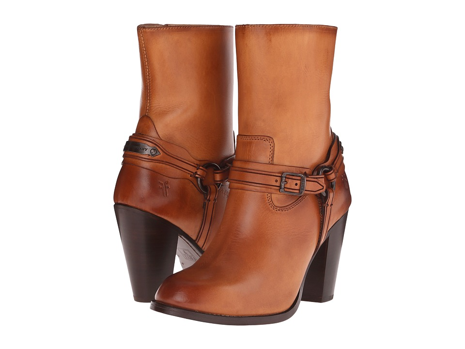 Frye - Jenny Plate Short (Tan Smooth Full Grain) Cowboy Boots