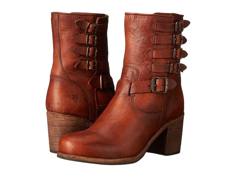 Frye - Kelly Belted Short (Cognac Washed Oiled Vintage) Cowboy Boots
