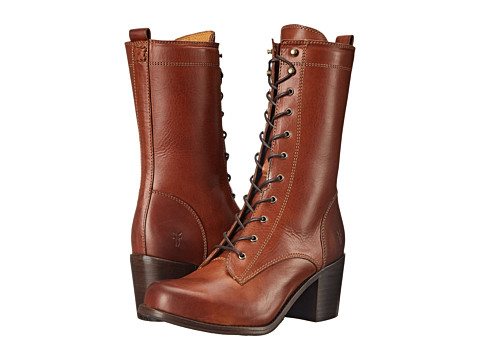 Frye - Kendall Lace Up (Cognac Smooth Full Grain) Cowboy Boots