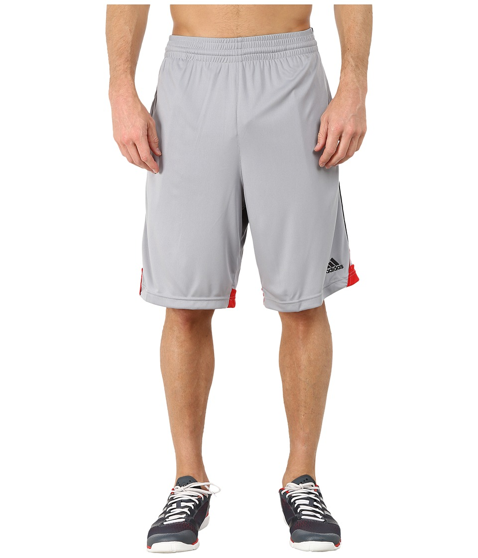 adidas - 3G Speed Short (Mid Grey/Black/Scarlet) Men's Shorts