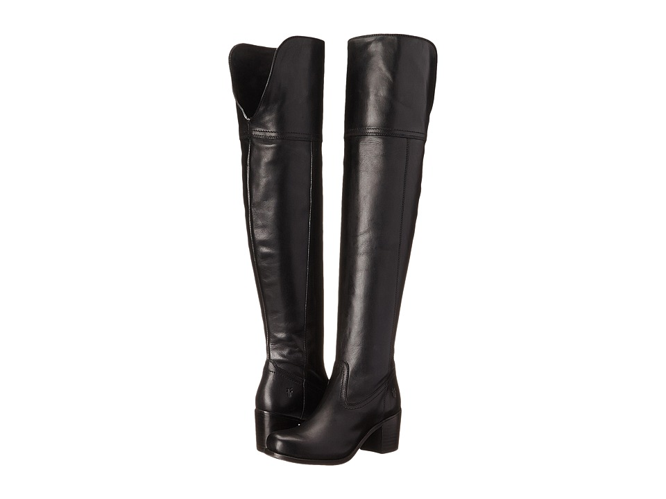 Frye - Kendall OTK (Black Smooth Full Grain) Cowboy Boots