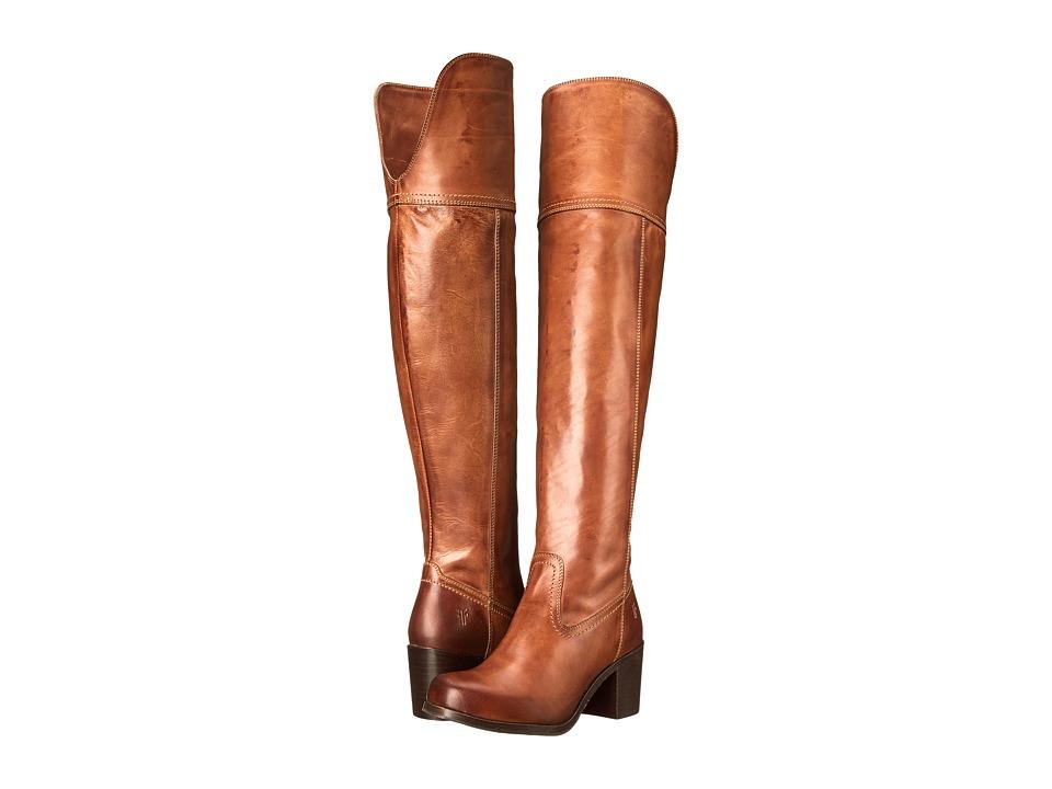 Frye Kendall OTK (Cognac Smooth Full Grain) Cowboy Boots