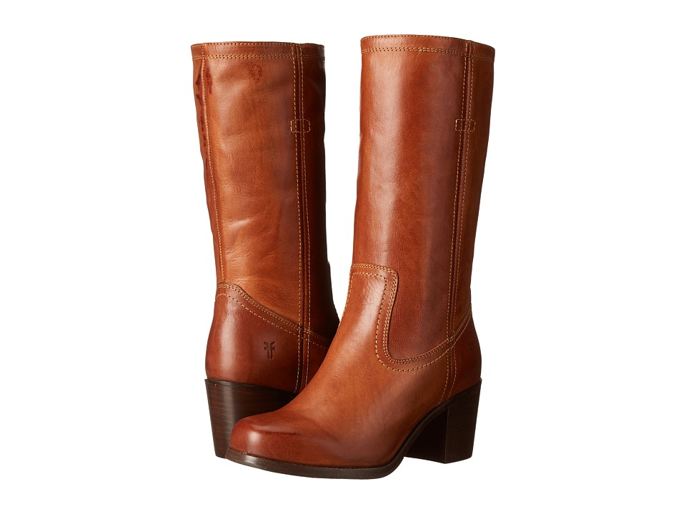 Frye Kendall Pull On (Cognac Smooth Full Grain) Cowboy Boots