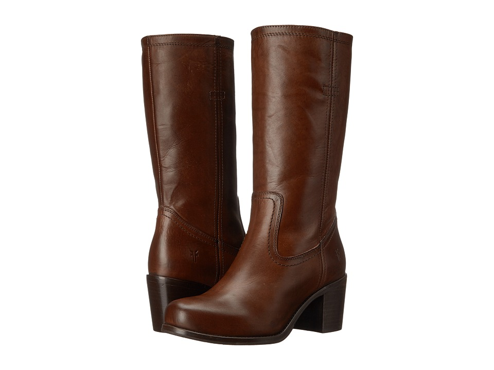 Frye Kendall Pull On (Dark Brown Smooth Full Grain) Cowboy Boots