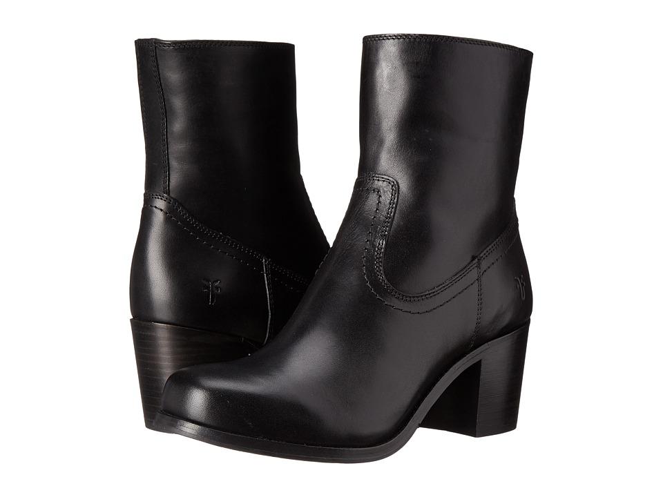 Frye - Kendall Zip Short (Black Smooth Full Grain) Cowboy Boots