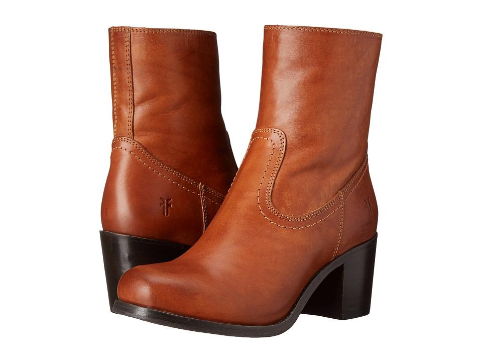 Frye - Kendall Zip Short (Cognac Smooth Full Grain) Cowboy Boots