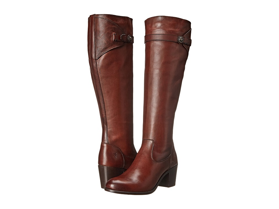 Frye Malorie Button Tall (Redwood Smooth Vintage Leather) Cowboy Boots