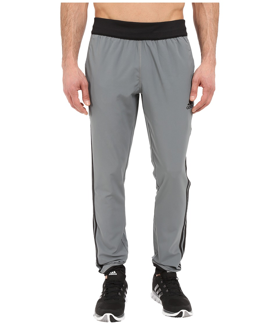 adidas - Slim 3S Woven Pant (Vista Grey/Black) Men's Casual Pants