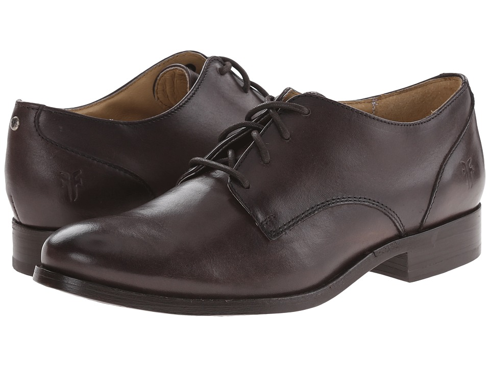 Frye - Melissa Oxford (Dark Grey Smooth Vintage Leather) Women's Lace up casual Shoes