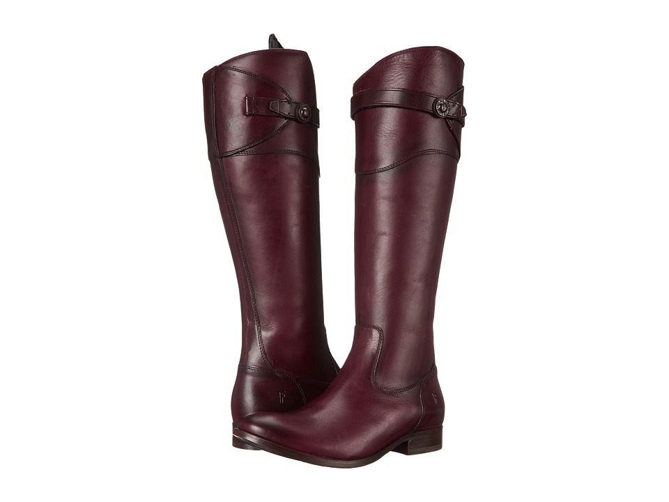Frye - Molly Button Tall (Bordeaux Smooth Vintage Leather) Cowboy Boots