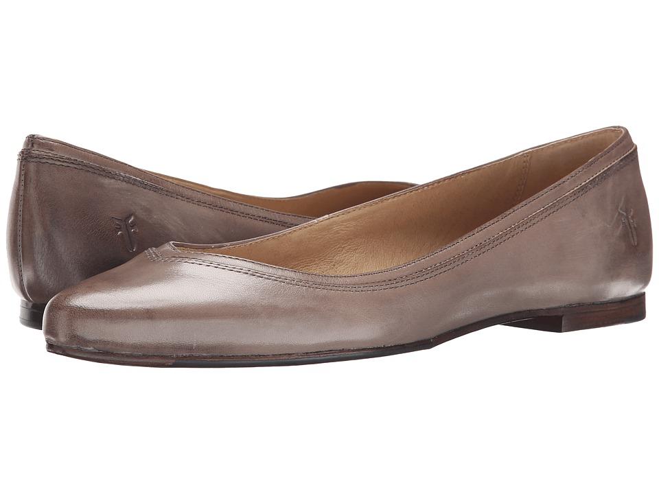 Frye - Olive Ballet (Grey Smooth Polished Veg) Women