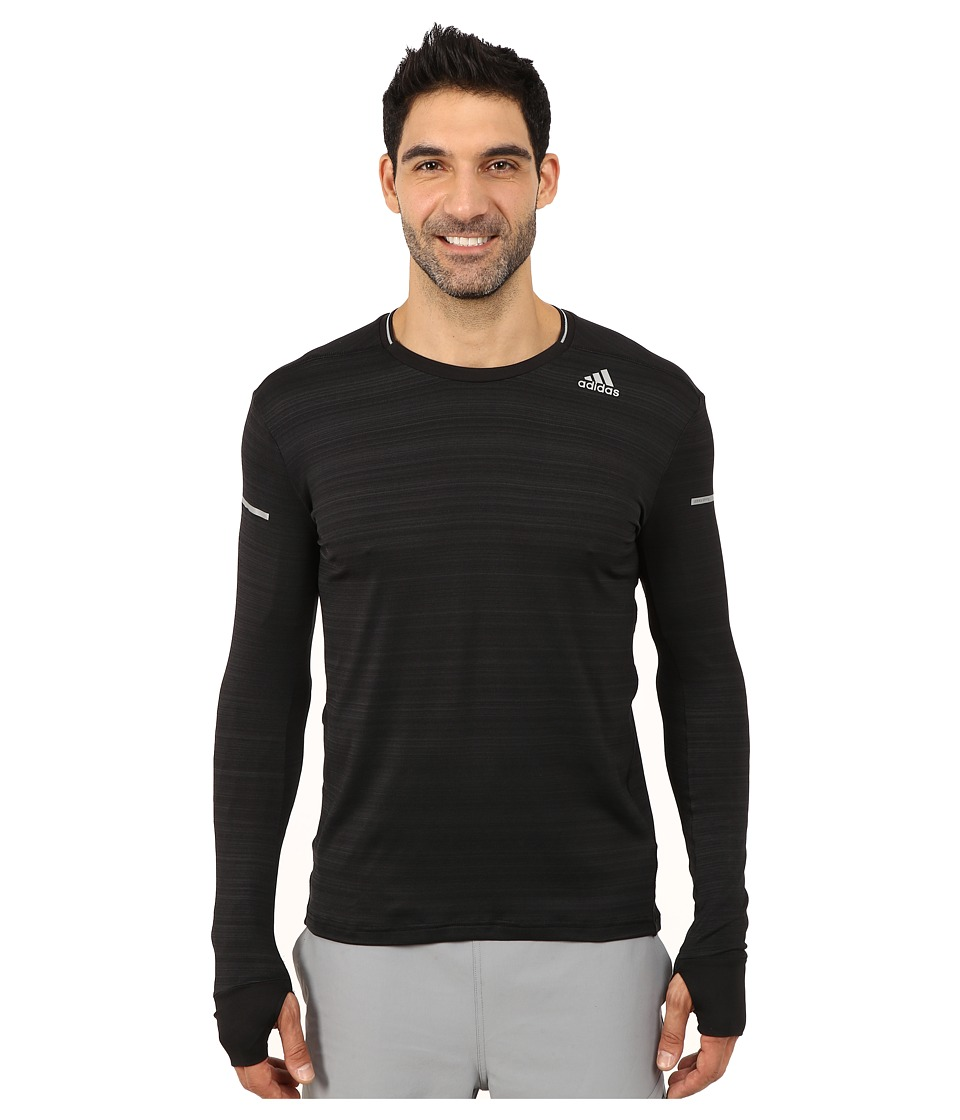 adidas - Sequencials Heathered Long Sleeve Tee (Black) Men's Workout
