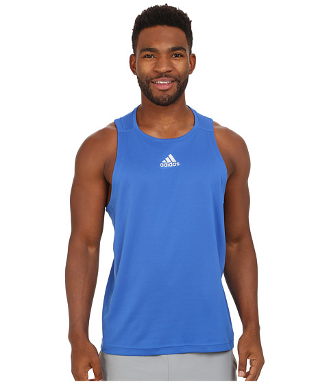 adidas - Sequencials Money Singlet (Blue) Men's Sleeveless