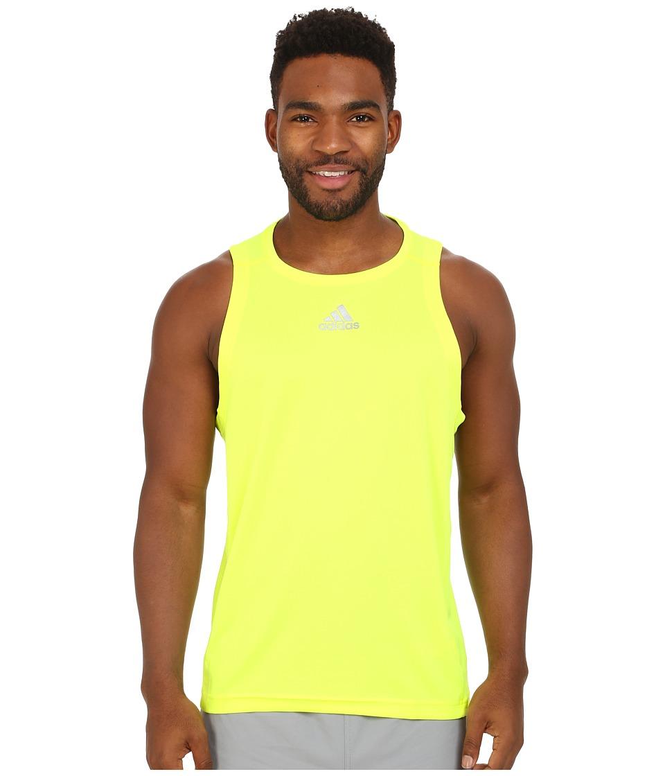 adidas - Sequencials Money Singlet (Solar Yellow) Men's Sleeveless