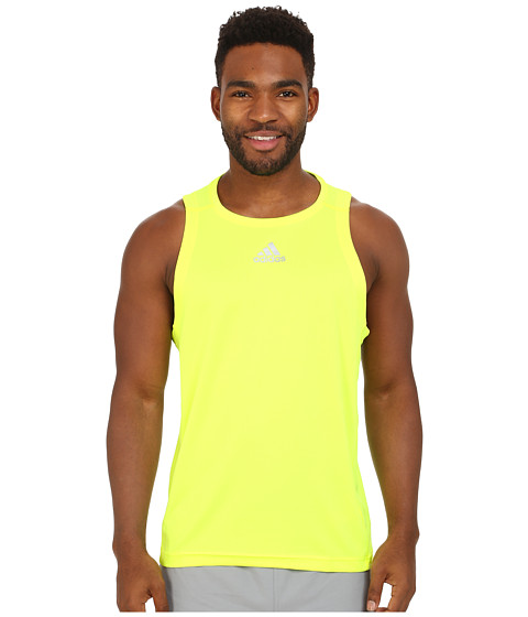 adidas - Sequencials Money Singlet (Solar Yellow) Men's Sleeveless