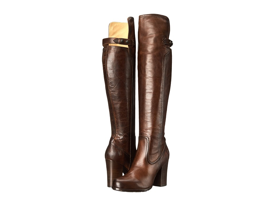Frye - Parker OTK (Dark Brown Antique Pull Up) Cowboy Boots