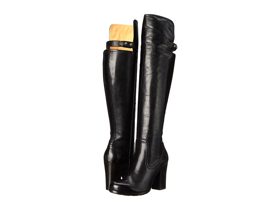 Frye - Parker OTK (Black Antique Pull Up) Cowboy Boots