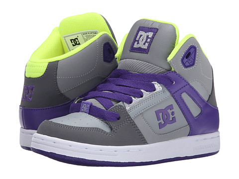 DC Kids - Rebound (Little Kid) (Battleship/Purple) Girls Shoes