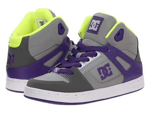 DC Kids - Rebound (Big Kid) (Battleship/Purple) Girls Shoes
