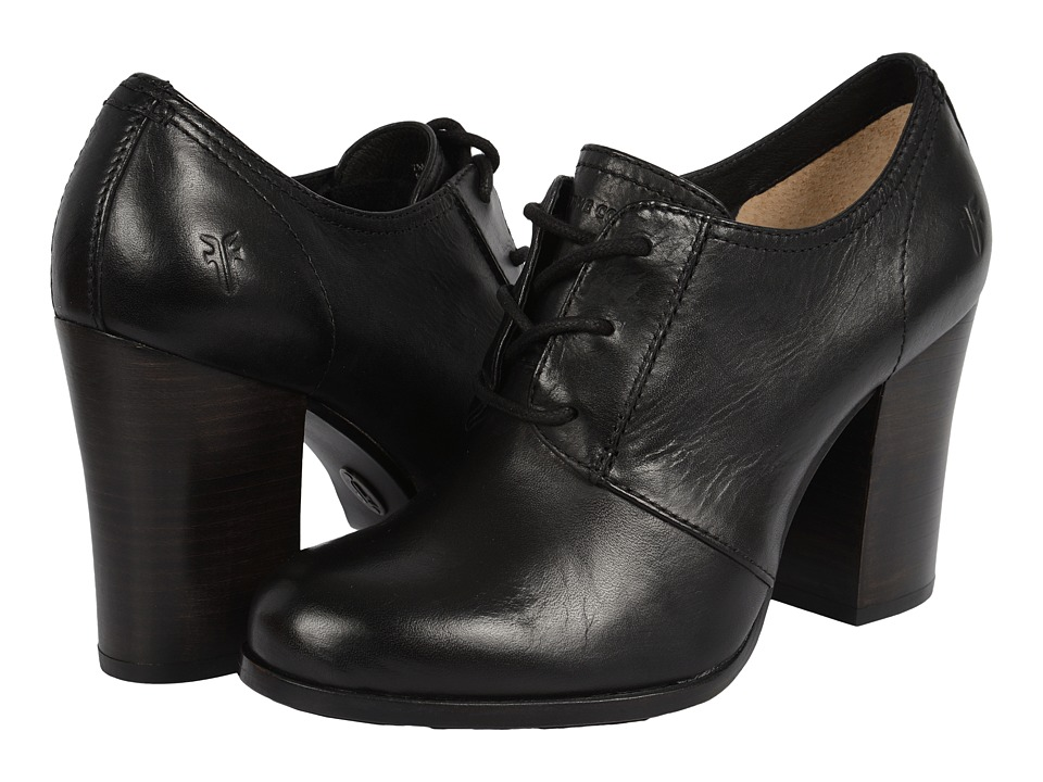 Frye - Parker Oxford (Black Antique Pull Up) High Heels