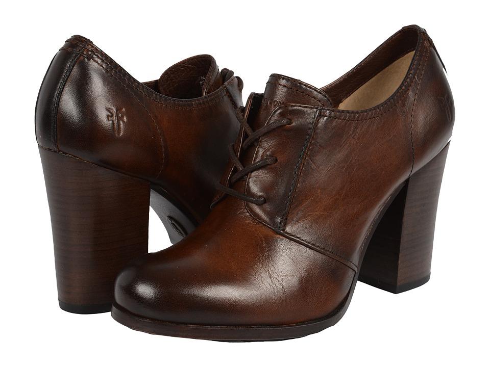 Frye - Parker Oxford (Dark Brown Antique Pull Up) High Heels