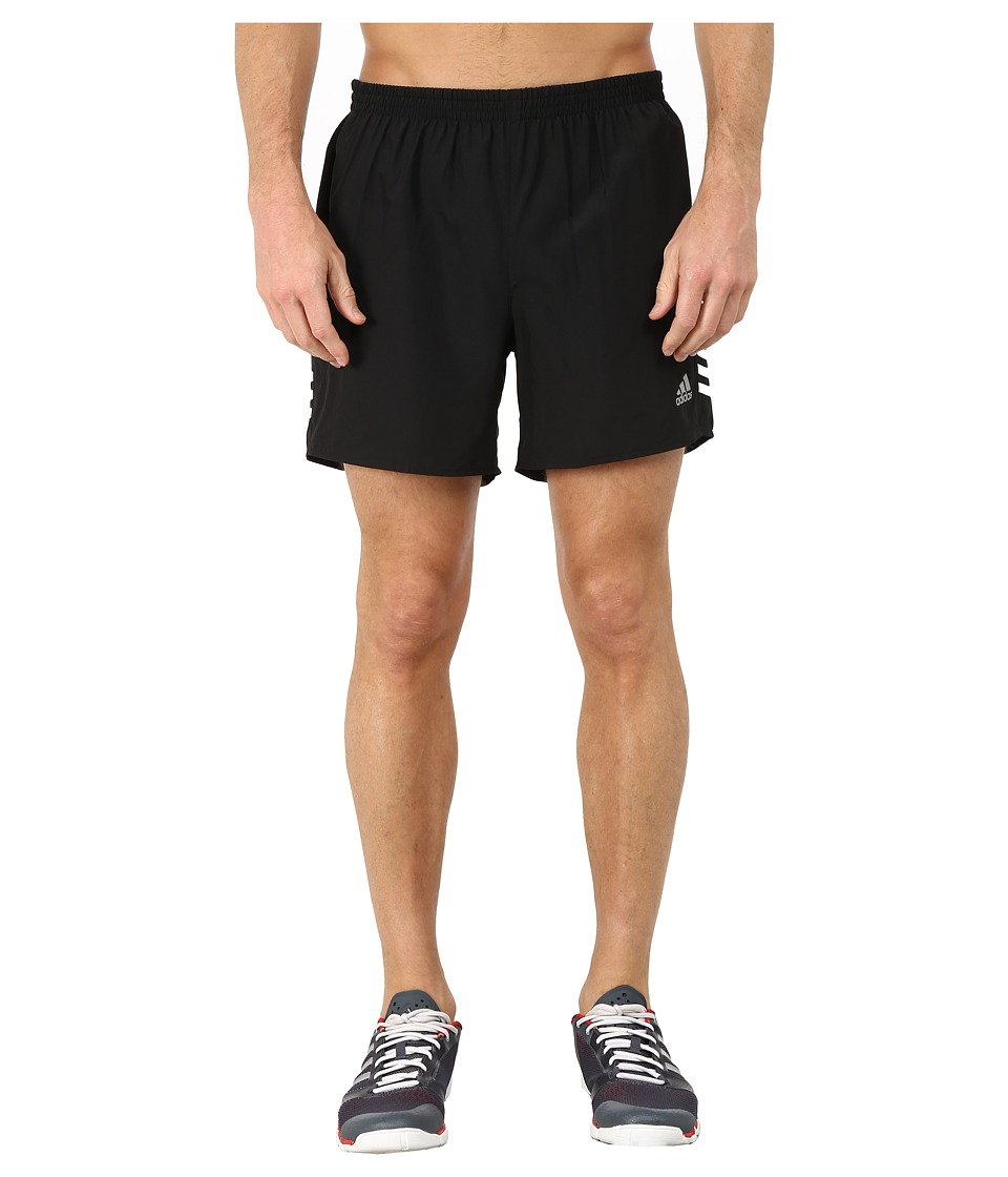 adidas - Response 5 Shorts (Black/White) Men's Workout