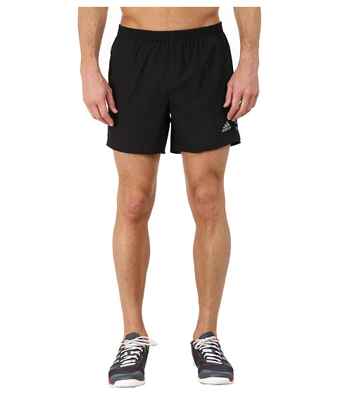 adidas - Response 5 Shorts (Black/Blue) Men's Workout