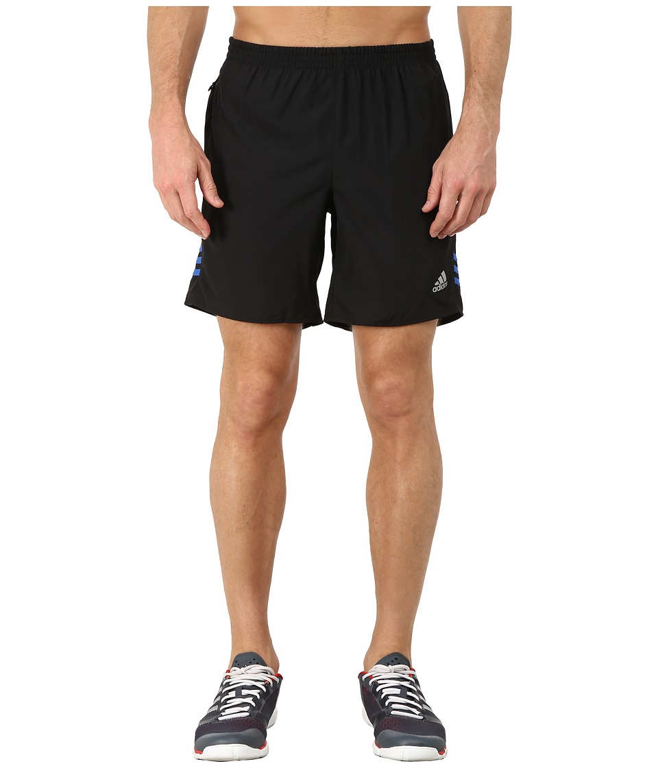 adidas - Response 7 Shorts (Black/Blue) Men's Workout