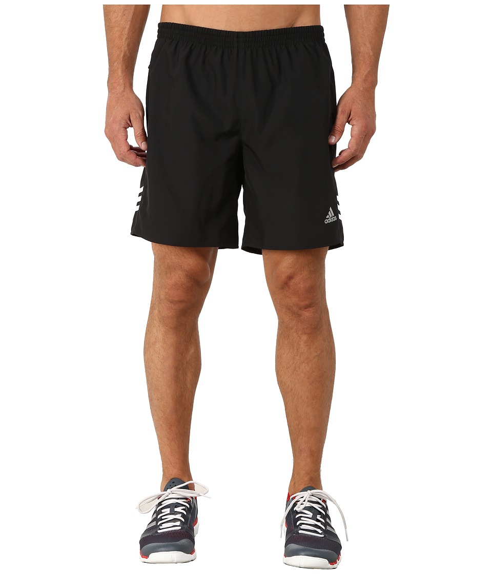 adidas - Response 7 Shorts (Black/White) Men's Workout