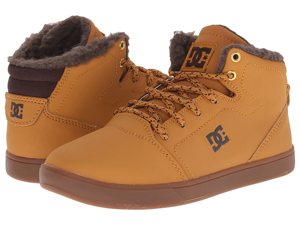 DC Kids - Crisis High WNT (Little Kid) (Wheat/Dark Chocolate) Boys Shoes