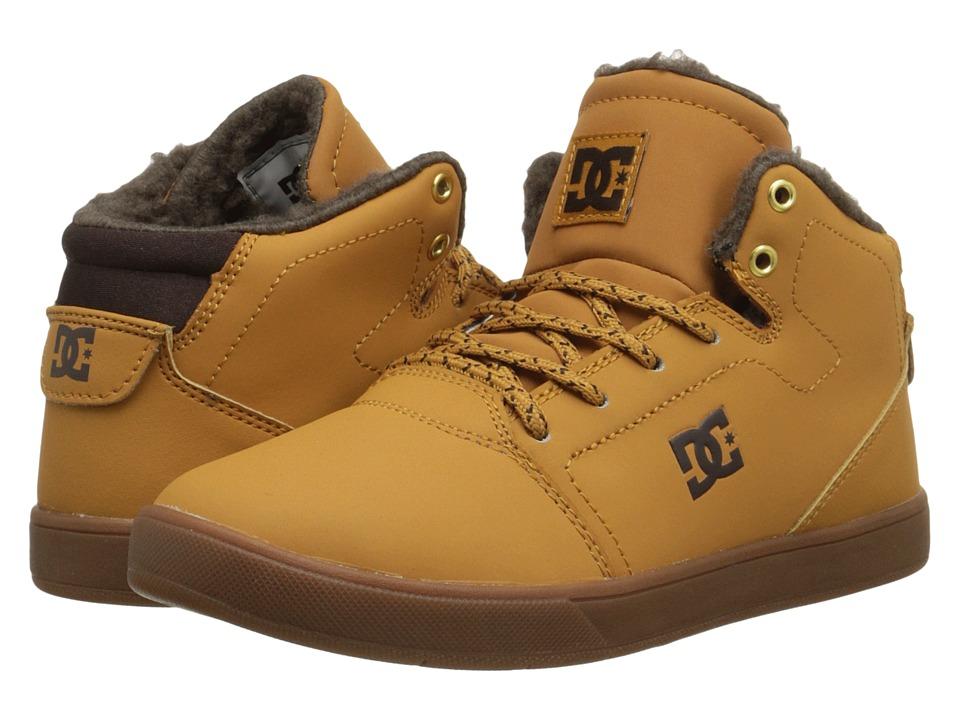 DC Kids - Crisis High WNT (Big Kid) (Wheat/Dark Chocolate) Boys Shoes