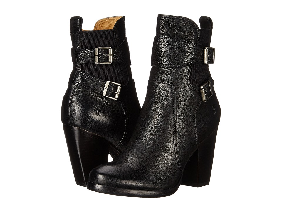 Frye - Patty Gore Bootie (Black Buffalo Leather) Cowboy Boots