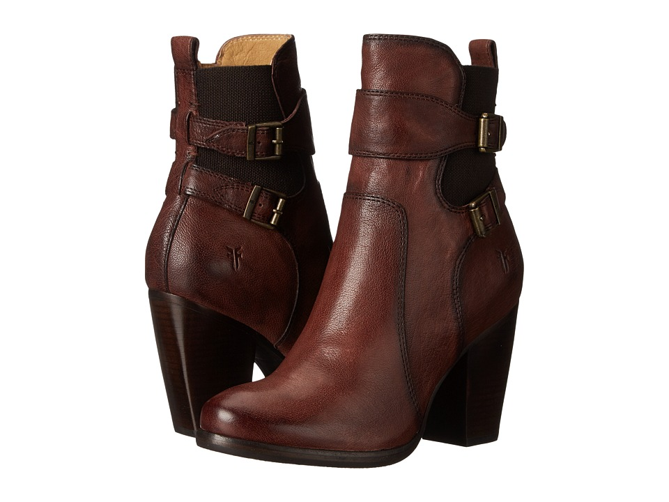 Frye - Patty Gore Bootie (Chocolate Buffalo Leather) Cowboy Boots