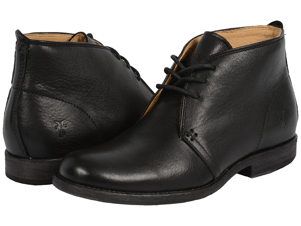 Frye Phillip Chukka (Black Soft Vintage Leather) Women
