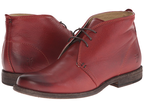 Frye - Phillip Chukka (Burnt Red Soft Vintage Leather) Women's Lace-up Boots
