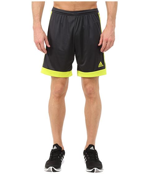 adidas - Tastigo 15 Dry Dye Short (Dark Grey/Semi Solar Yellow) Men's Shorts