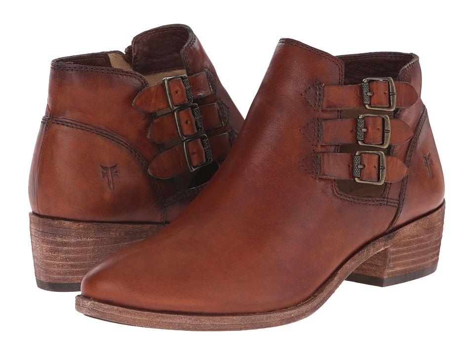 Frye Ray Belted Bootie (Cognac Washed Oiled Vintage) Cowboy Boots