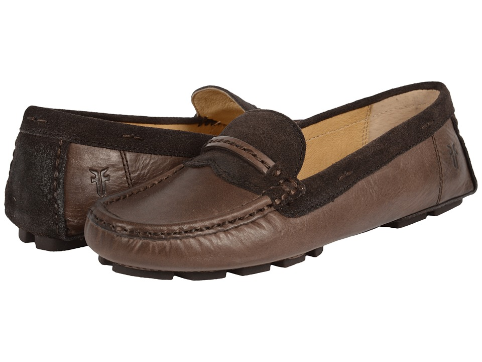 Frye - Reagan Stitch Keeper (Smoke Smooth Vintage Leather/Oiled Suede) Women