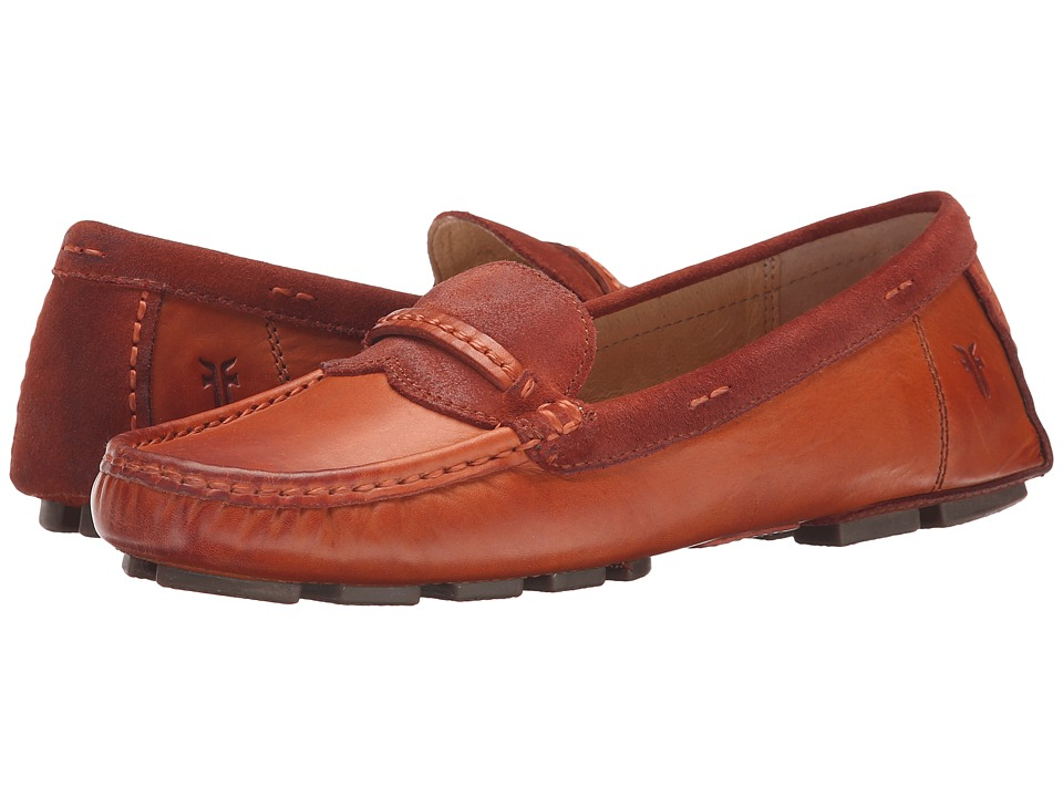 Frye - Reagan Stitch Keeper (Whiskey Smooth Vintage Leather/Oiled Suede) Women's Slip on Shoes